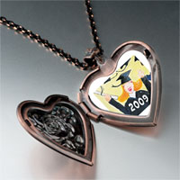Necklace & Pendants - graduate 2009  photo italian heart locket pendant necklace Image.