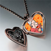 Necklace & Pendants - knitting grandma photo italian heart locket pendant necklace Image.