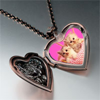 Necklace & Pendants - kittens photo italian heart locket pendant necklace Image.