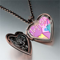 Necklace & Pendants - multicolor shopping bag photo italian heart locket pendant necklace Image.