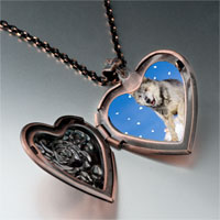 Necklace & Pendants - running wolf photo italian heart locket pendant necklace Image.