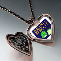 Necklace & Pendants - brussels sprouts photo italian heart locket pendant necklace Image.