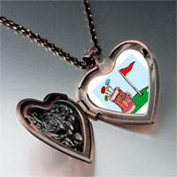 Necklace & Pendants - cartoon clubs bag photo italian heart locket pendant necklace Image.
