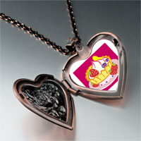 Necklace & Pendants - icecream photo italian heart locket pendant necklace Image.