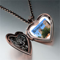 Necklace & Pendants - birmingham scene photo italian heart locket pendant necklace Image.