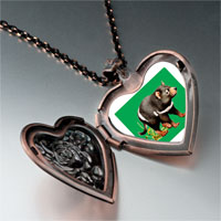 Necklace & Pendants - racoon photo italian heart locket pendant necklace Image.