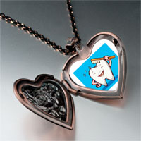 Necklace & Pendants - tooth brush photo italian heart locket pendant necklace Image.