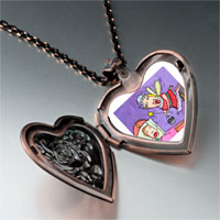 Necklace & Pendants - busy mom child heart locket pendant necklace Image.