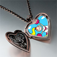 Necklace & Pendants - cheering cheer leader photo italian heart locket pendant necklace Image.
