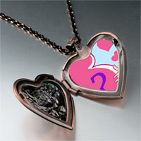 Necklace & Pendants - pregnant boy girl photo italian heart locket pendant necklace Image.