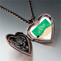 Necklace & Pendants - spa photo italian heart locket pendant necklace Image.