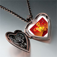 Necklace & Pendants - volcanic explosion photo italian heart locket pendant necklace Image.