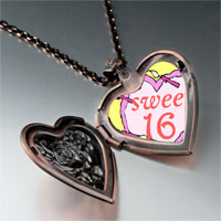 Necklace & Pendants - sweet 16  birthday cake photo italian heart locket pendant necklace Image.