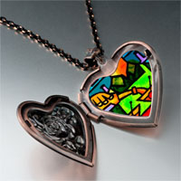 Necklace & Pendants - pouring wine photo italian heart locket pendant necklace Image.