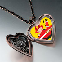 Necklace & Pendants - little cute fireman photo italian heart locket pendant necklace Image.