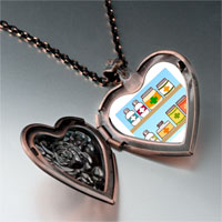 Items from KS - medicine chest photo italian heart locket pendant necklace Image.