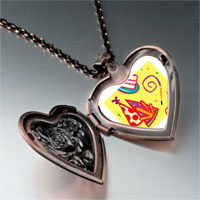 Necklace & Pendants - hand painting photo italian heart locket pendant necklace Image.
