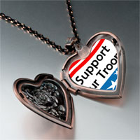 Necklace & Pendants - support our troops photo italian heart locket pendant necklace Image.