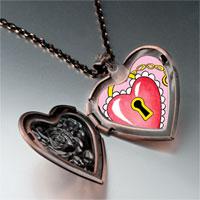 Items from KS - heart lock photo italian heart locket pendant necklace Image.