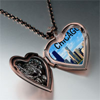 Necklace & Pendants - chicago photo italian heart locket pendant necklace Image.