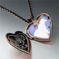 Necklace & Pendants - polar bear penguin photo italian heart locket pendant necklace Image.