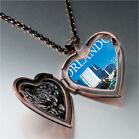 Necklace & Pendants - orlando city scenery photo italian heart locket pendant necklace Image.