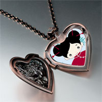 Necklace & Pendants - girl in costume photo italian heart locket pendant necklace Image.
