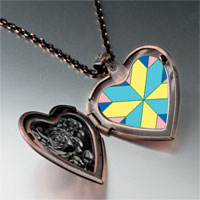 Necklace & Pendants - multi color geometric figure star photo italian heart locket pendant necklace Image.