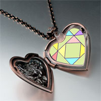 Necklace & Pendants - multi color geometric figure photo italian heart locket pendant necklace Image.