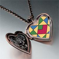 Necklace & Pendants - multicolor geometric figure photo italian heart locket pendant necklace Image.