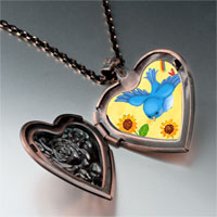 Necklace & Pendants - bird photo italian heart locket pendant necklace Image.