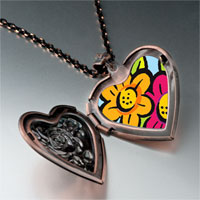 Necklace & Pendants - hand painted flowers photo italian heart locket pendant necklace Image.