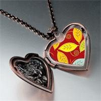 Necklace & Pendants - leaves photo italian heart locket pendant necklace Image.