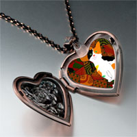 Necklace & Pendants - color kitten photo italian heart locket pendant necklace Image.
