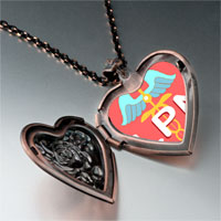Items from KS - lpn photo italian heart locket pendant necklace Image.