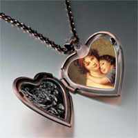 Necklace & Pendants - mom child photo heart locket pendant necklace Image.