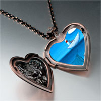 Necklace & Pendants - catching fish photo italian heart locket pendant necklace Image.