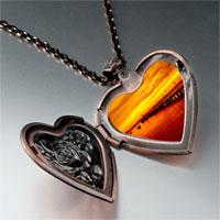 Necklace & Pendants - sunset glow photo italian heart locket pendant necklace Image.
