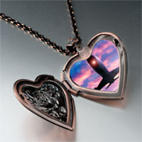 Necklace & Pendants - airplane photo italian heart locket pendant necklace Image.