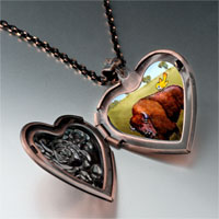 Necklace & Pendants - buffalo bird photo italian heart locket pendant necklace Image.