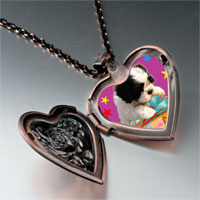 Necklace & Pendants - poodle present photo italian heart locket pendant necklace Image.