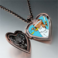 Necklace & Pendants - blind justice photo italian heart locket pendant necklace Image.