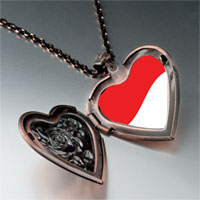 Items from KS - indonesia flag photo italian heart locket pendant necklace Image.
