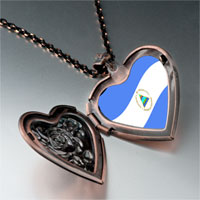 Necklace & Pendants - nicaragua flag photo italian heart locket pendant necklace Image.