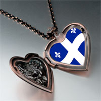 Necklace & Pendants - quebec flag photo italian heart locket pendant necklace Image.