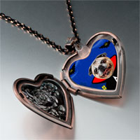 Necklace & Pendants - puppy gentleman photo italian heart locket pendant necklace Image.