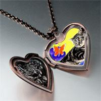 Necklace & Pendants - cat photo italian heart locket pendant necklace Image.