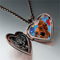Necklace & Pendants - balloon around puppy heart locket pendant necklace Image.