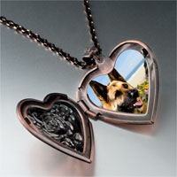 Necklace & Pendants - dog photo italian heart locket pendant necklace Image.