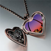 Necklace & Pendants - night scene photo italian heart locket pendant necklace Image.